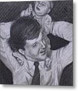 As A Father Carries His Son Metal Print