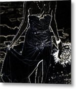 As Aphrodite Coming From Sea Foam. Black Art Metal Print by Jenny Rainbow