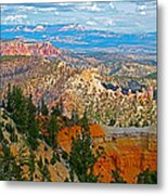As Far As The Eye Can See From Farview Point In Bryce Canyon-utah   Metal Print