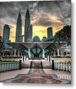 As Syakirin Mosque And Petronas Tower Metal Print