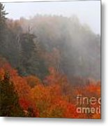 As The Fog Rolls In Metal Print by Steven Valkenberg