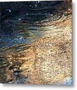 As The Ocean Wave Swirled It Looked Like Gold Metal Print by Artist and Photographer Laura Wrede