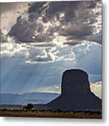 As The Storm Moves In Metal Print