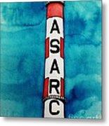 Asarco In Watercolor Metal Print