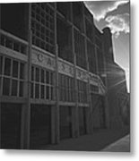Asbury Park Nj Casino Black And White Metal Print