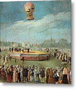 Ascent Of A Balloon In The Presence Of The Court Of Charles Iv Metal Print
