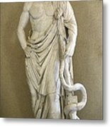 Asclepius. 4th C. Bc. Classical Greek Metal Print