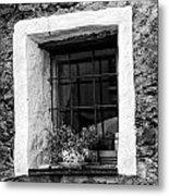 Ascona Window Bw Metal Print