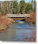 Ash Brook And Bridge Metal Print