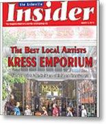 Asheville Insider Magazine Metal Print