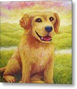 Ashly's Retriever   Metal Print