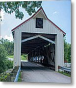 Ashtabula Collection - Mechanicsville Road Covered Bridge 7k0207 Metal Print