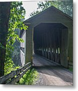 Ashtabula Collection - Middle Road Covered Bridge 7k01959 Metal Print