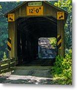 Ashtabula Collection - Olin's Covered Bridge 7k01978 Metal Print