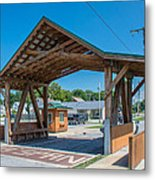Ashtabula Collection - West Liberty Covered Bridge 7k02064 Metal Print
