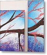 Asian Bloom Triptych 1 2 Metal Print