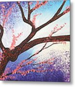 Asian Bloom Triptych 1 Metal Print