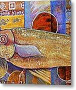 Asian Fish Market Metal Print