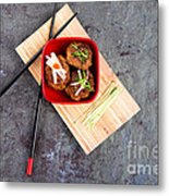 Asian Meatballs 1 Metal Print by Jane Rix