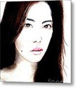 Asian Model II Metal Print
