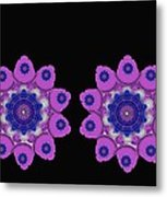 Asian Purple Orchids Metal Print