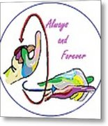 Asl Always And Forever Metal Print