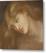 Aspecta Medusa Metal Print by Dante Charles Gabriel Rossetti