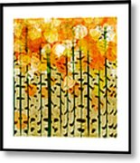 Aspen Colorado Abstract Square 4 Metal Print
