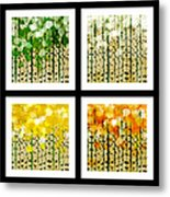 Aspen Colorado Abstract Square 4 In 1 Collection Metal Print