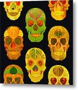 Aspen Leaf Skulls Poster 2014 Black Metal Print