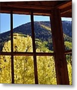 Aspen Window 2 Metal Print