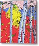 Aspensincolor Redorange Metal Print