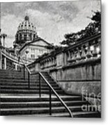 Aspirations In Black And White Metal Print