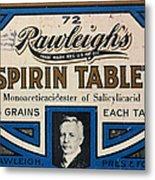 Aspirin 5 Grains Metal Print