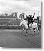Aspiring Cowboys In Dublin 1961 Metal Print