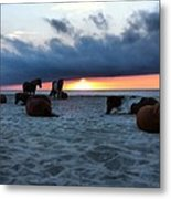 Assateague Sunrise Metal Print