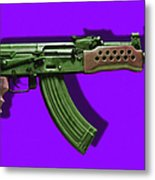 Assault Rifle Pop Art - 20130120 - V4 Metal Print