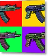 Assault Rifle Pop Art Four - 20130120 Metal Print