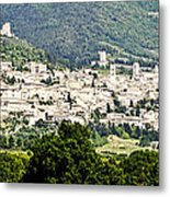 Assisi Italy - Medieval Hilltop City Metal Print