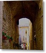 Assisi Walkway Metal Print