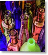 Assorted Colored Bottles Metal Print