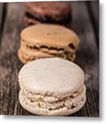 Assorted Macaroons Vintage Metal Print