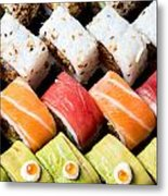 Assortment Of Sushi Metal Print