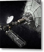 Asteroid Mining And Processing Metal Print