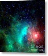 Asteroid Zips By Orion Nebula Metal Print