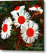 Asters Bright And Bold Metal Print