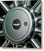 Aston Martin Db7 Wheel Emblem Metal Print