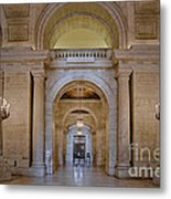 Astor Hall At The New York Public Library Metal Print