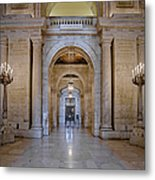 Astor Hall New York Public Library Metal Print by Susan Candelario