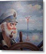 Astounding Sea Captain Original Or Map Captain 1987 Metal Print